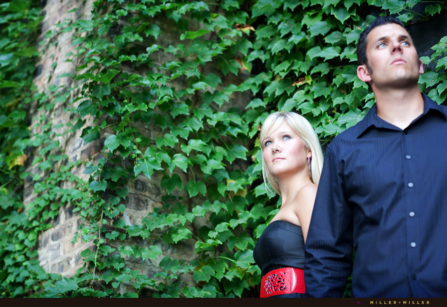 dramatic engagement portraits elmhurst