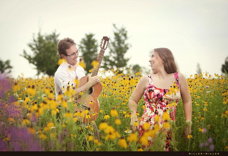 engagement photographer acoustic guitar