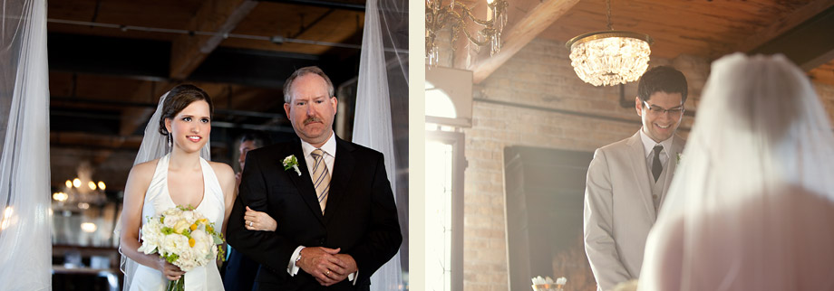 loft wedding ceremony moments