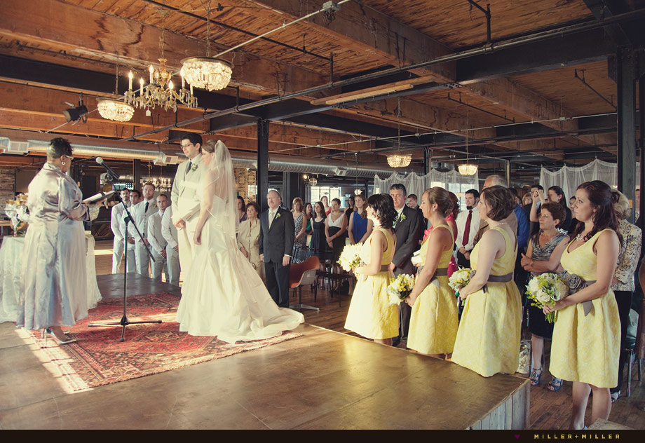 salvage one chicago loft wedding ceremony