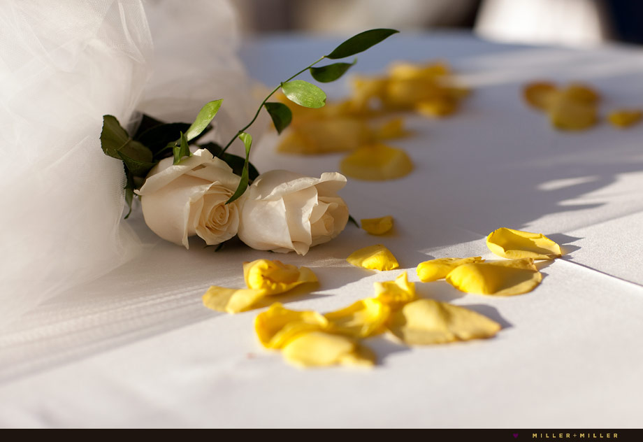 wedding white yellow roses