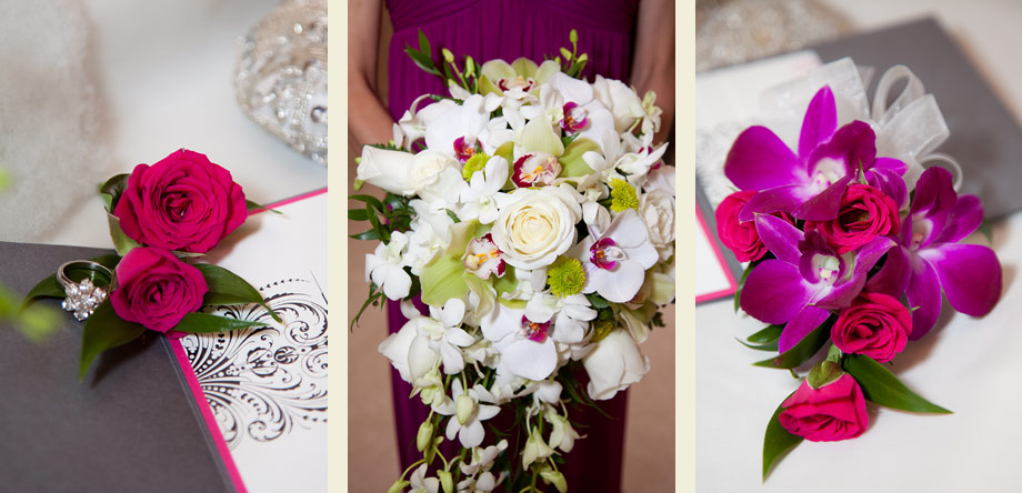 bright colorful pink wedding