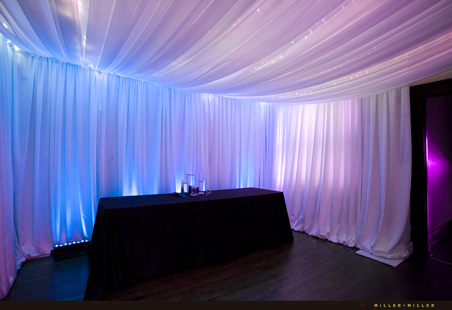 chicago fairytale wedding fabric linens