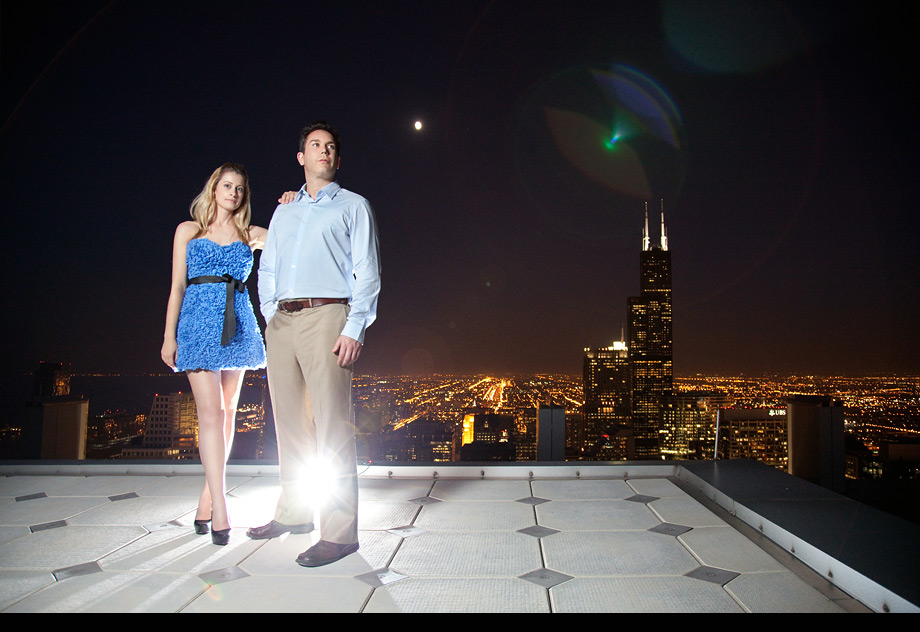 chicago skyline engagement photographer