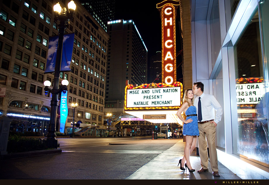 chicago theater sign engagement