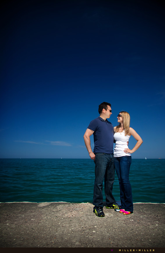 colorful chicago engagement photographs