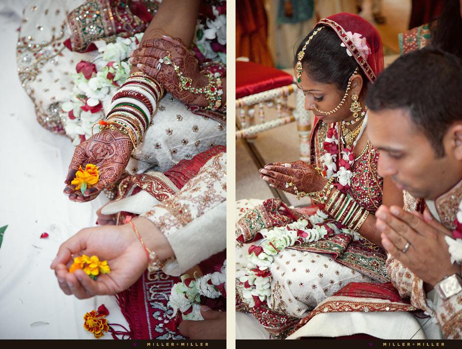 colorful indian wedding prayer image