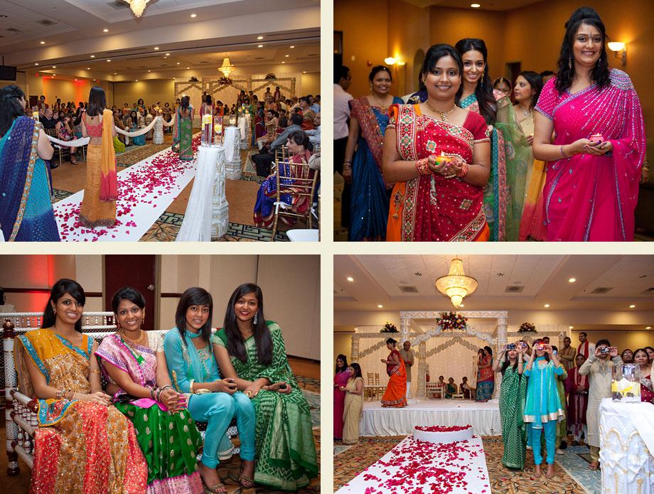colorful sari wedding fashion