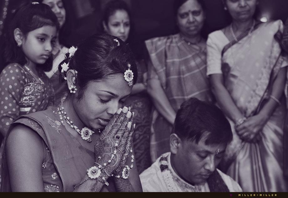 indian woman jewelry prayer