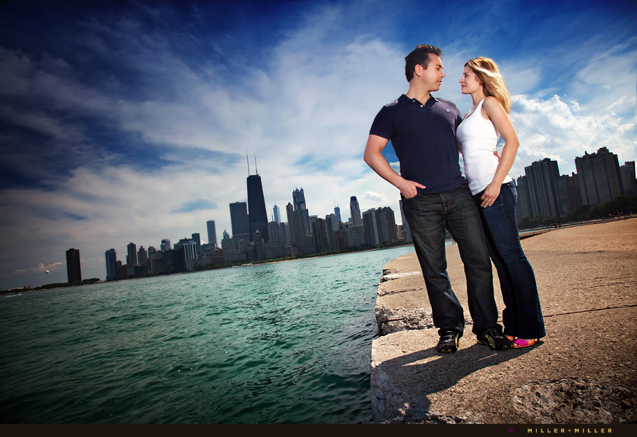 modern chicago engagement wedding photographer