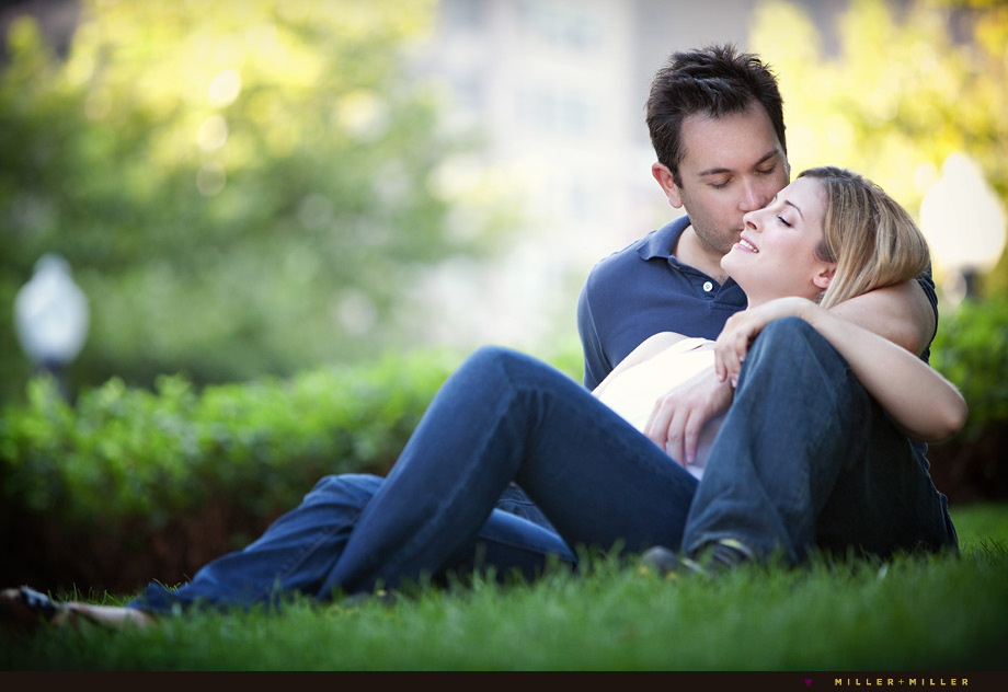 modern romantic engagement photos