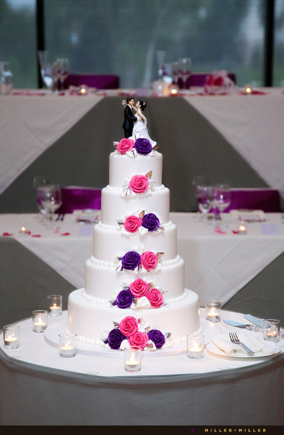 pink purple and blue wedding cake mique s angie and tim 39s italian themed carillon 18582