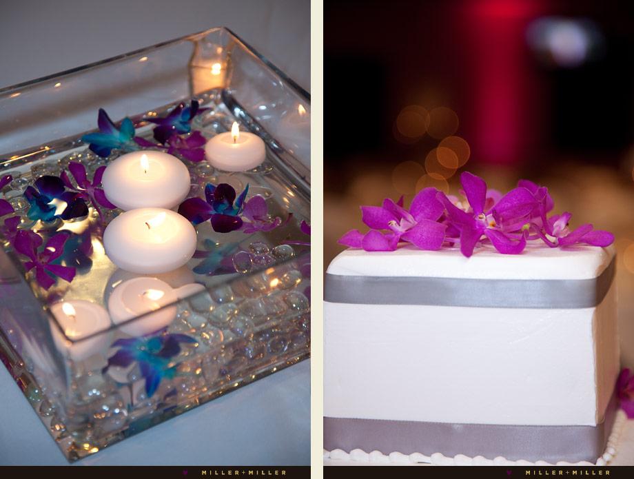 pink wedding cake details