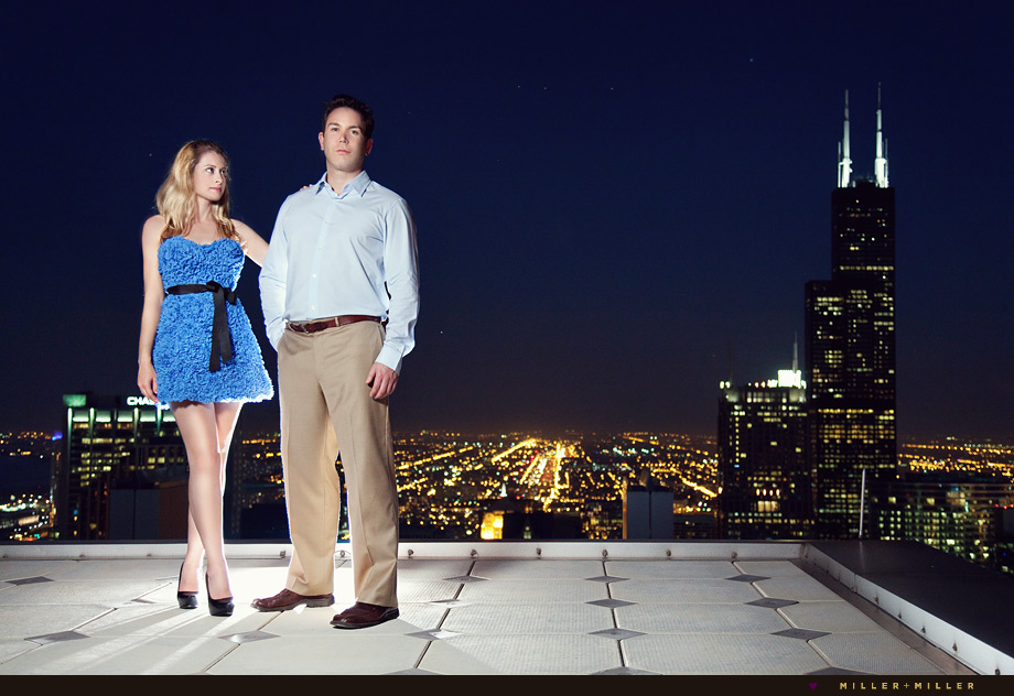 sears tower chicago engagement photographer