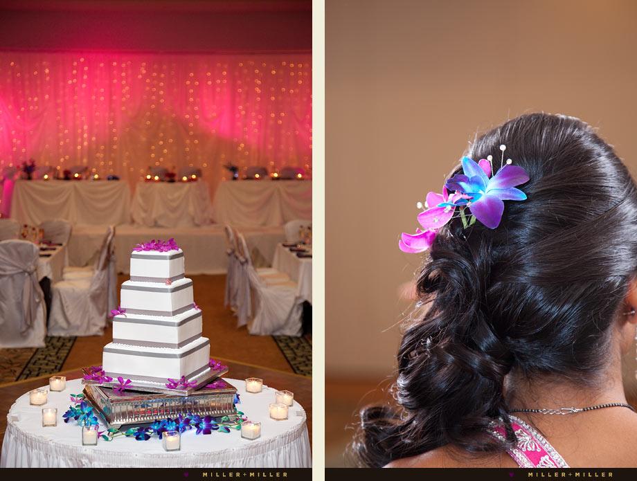vibrant wedding cake flowers