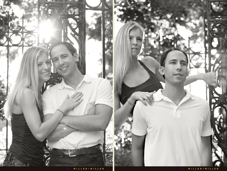 black white engagement photography illinois