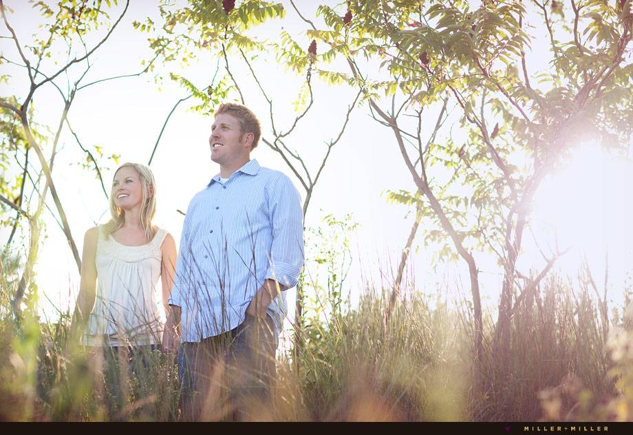 chicago nature engagement portraits