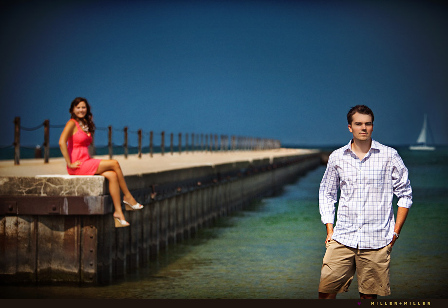 chicago north ave beach engagement