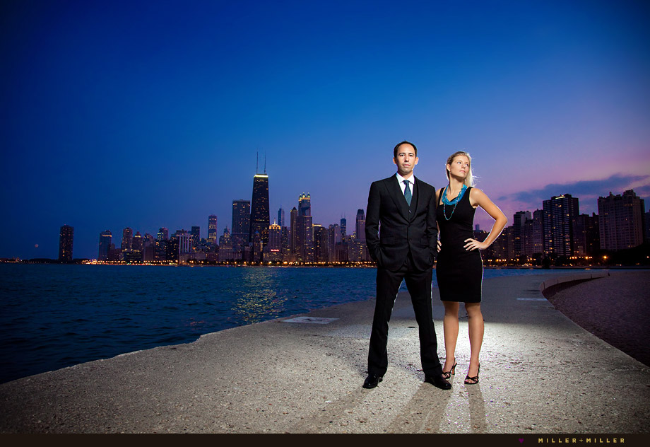 chicago skyline engagement photography