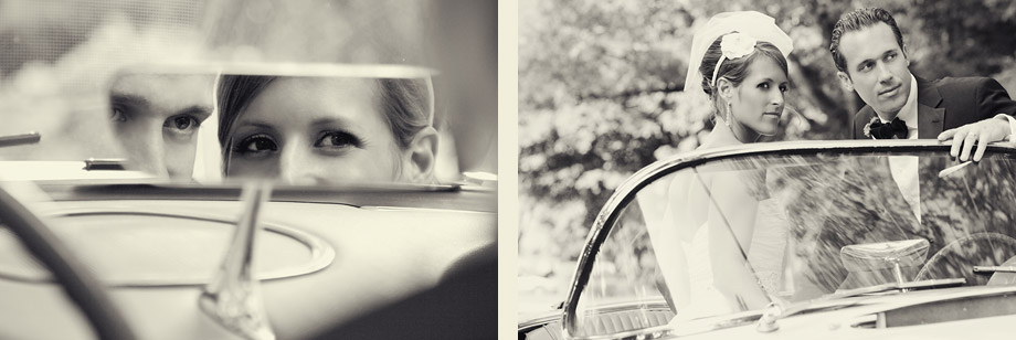 chicago wedding photography vintage car antique