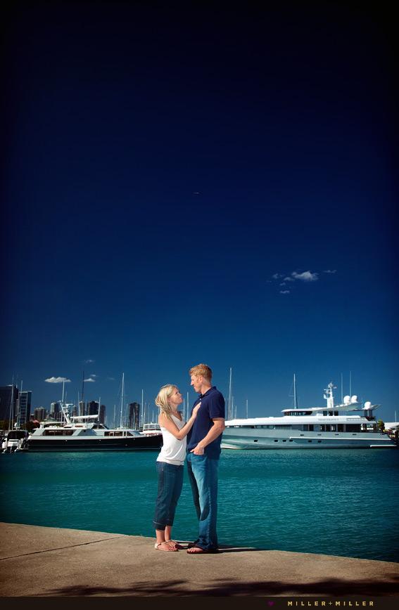 chicago yacht engagement wedding photographer