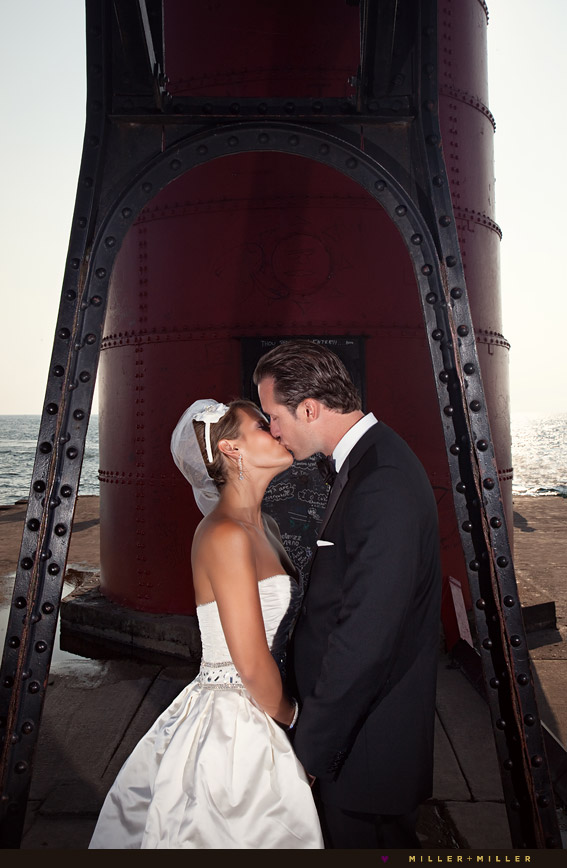 illinois michigan lighthouse wedding photography