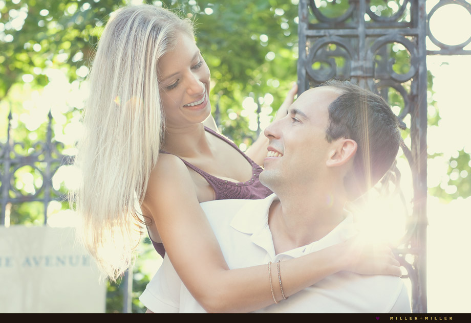 stylish engagement images chicago hinsdale