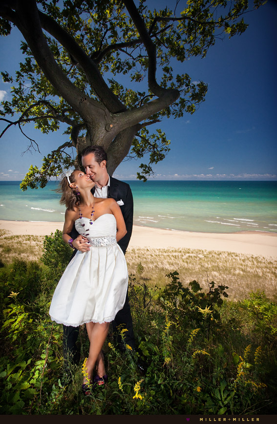 Traverse City Wedding Photography: Erik + Allison's Trash The Dress Photography On The Beach