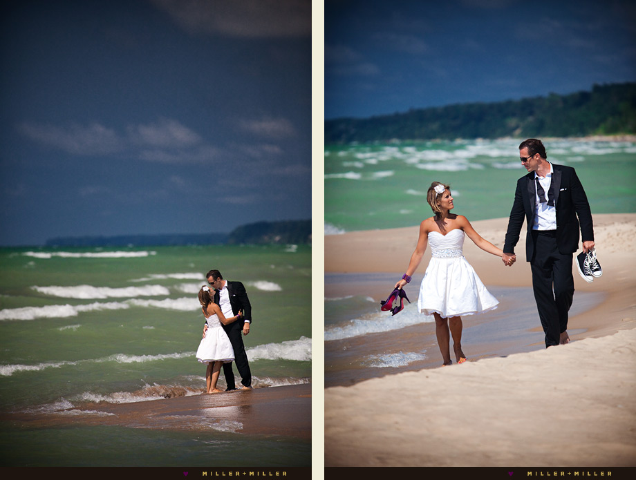 traverse city beach wedding photography