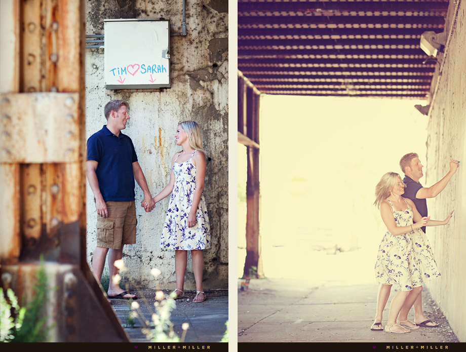 vintage casual chicago engagement session