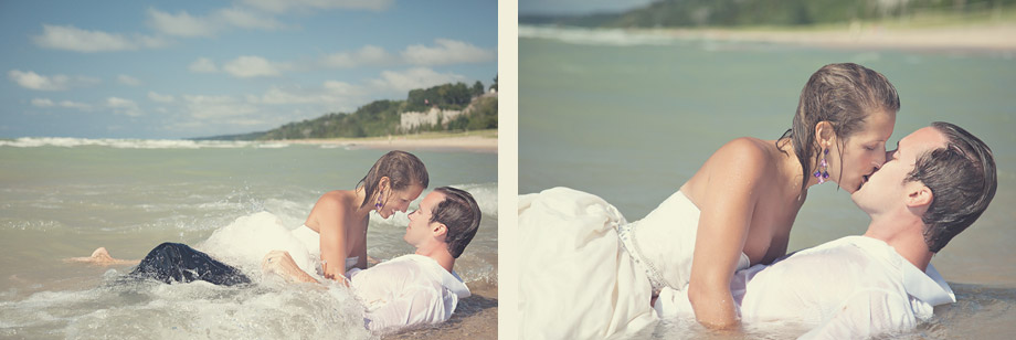waikiki beach trash the dress photography