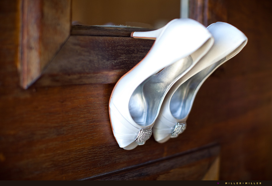artistic wedding heels photo