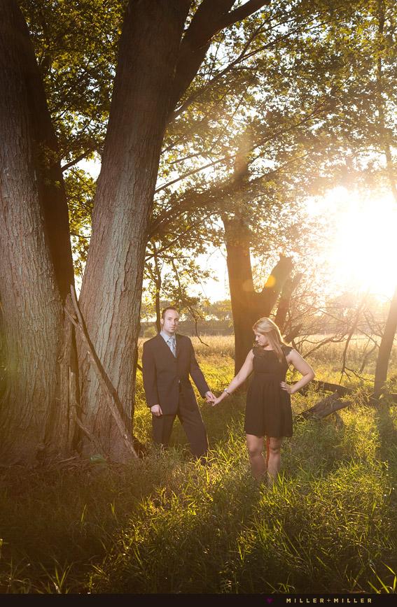 beautiful outdoor engagement portraits naperville