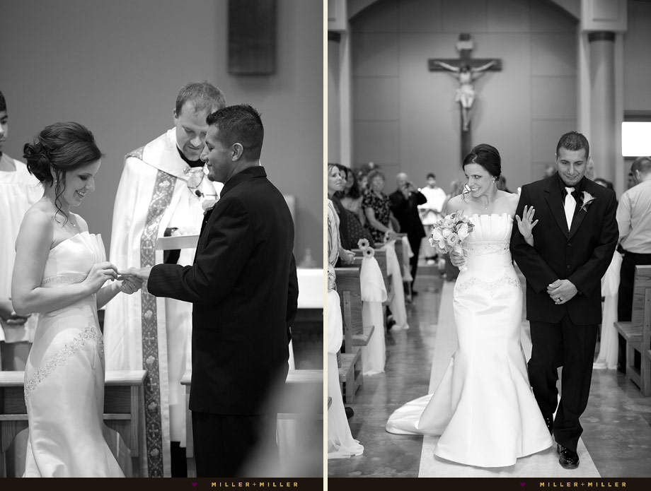 black white wedding ceremony moments