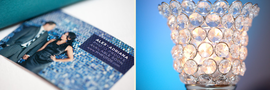 blue wedding detail photos