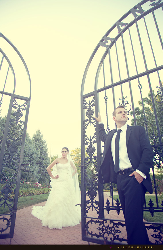 chicago mansion high-fashion wedding