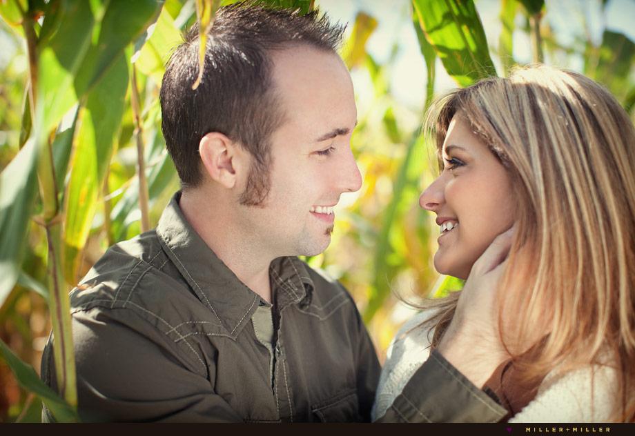cornfield engagement illinois wedding photography