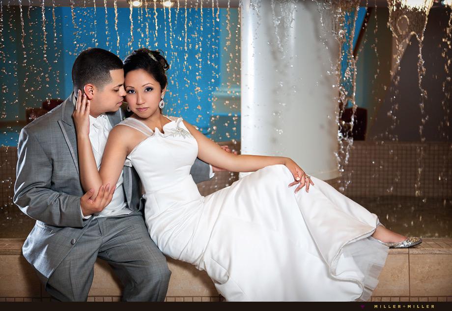 duneland falls indiana wedding portrait