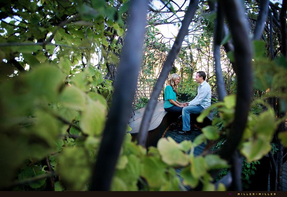 engagement in chicago vine garden