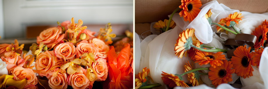 fall orange wedding flowers
