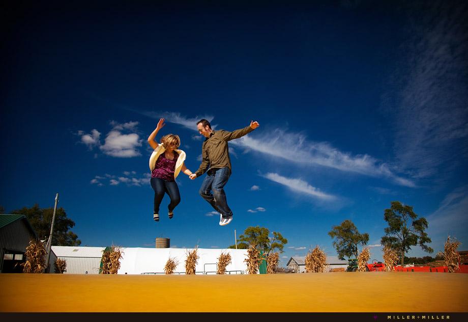 fun fall portraits jumping bouncing