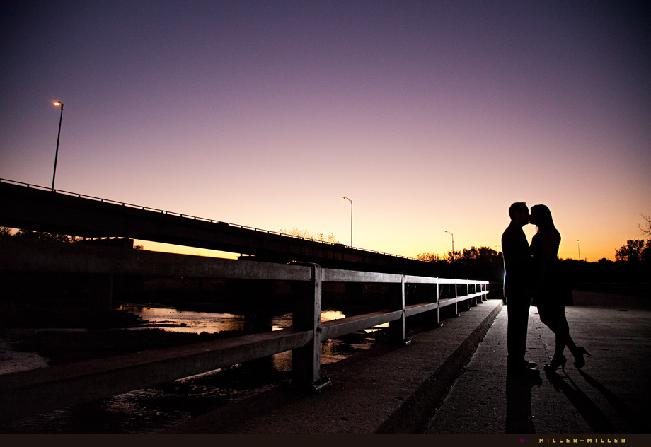 illinois sunset silhouette artistic engagement pictures