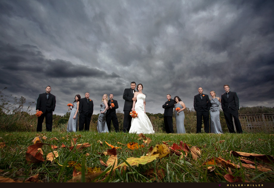 modern fall illinois wedding photography