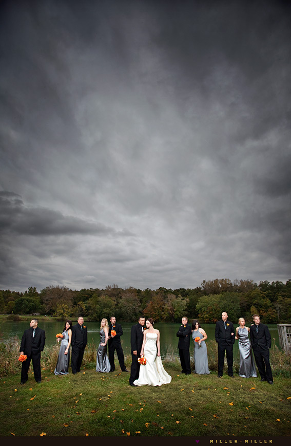 modern fall illinois wedding