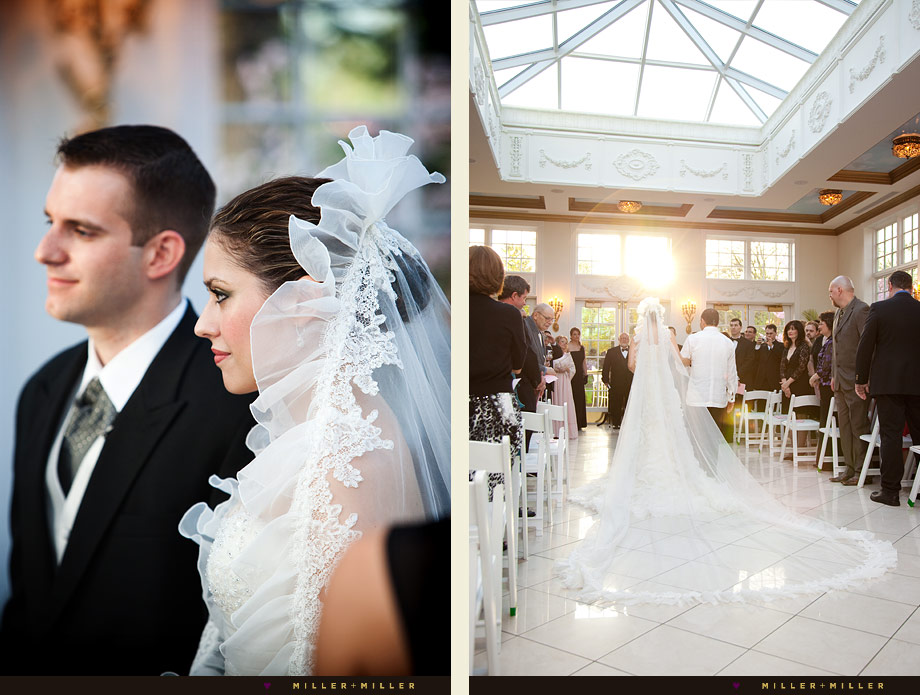 rich elegant chicago wedding ceremony