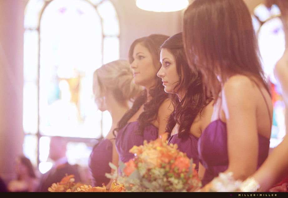 bridesmaids purple