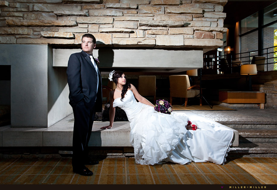 dramatic chicago wedding photographer
