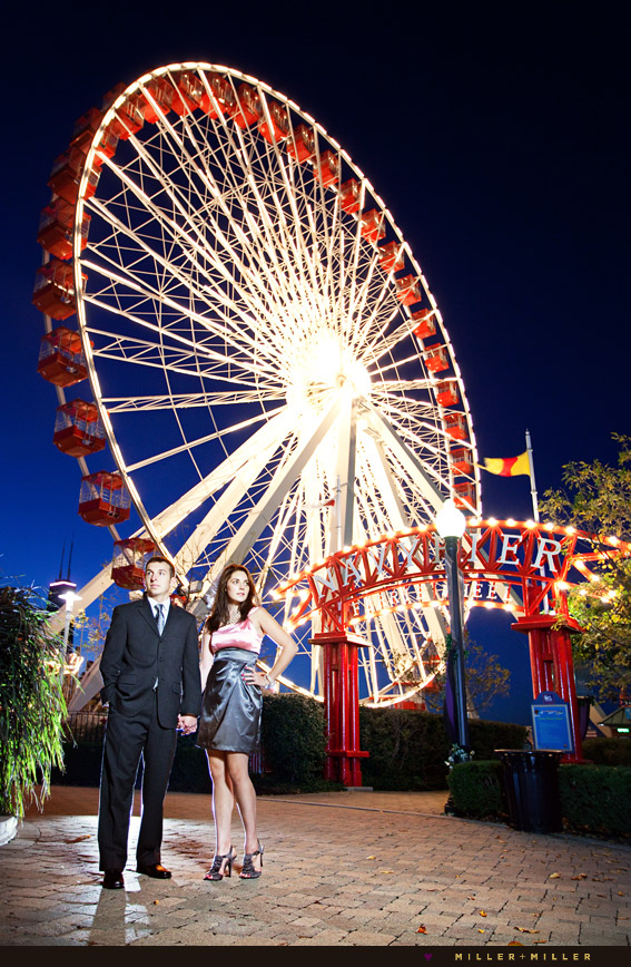 engagement photographs navy pier chicago