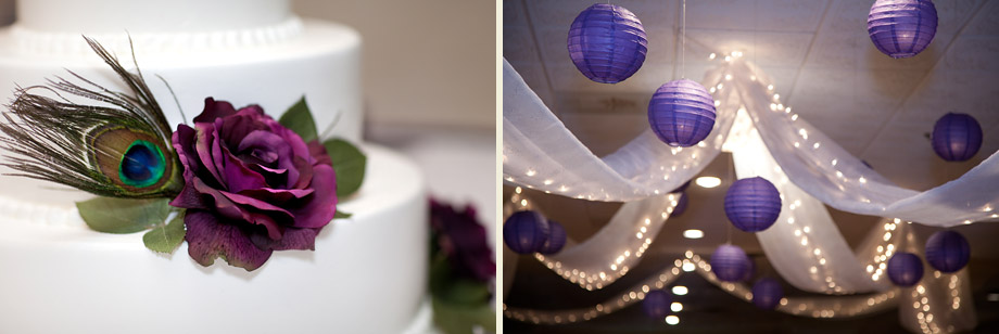 fall purple reception lighting