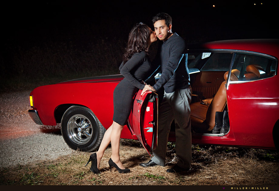 fashion inspired country car engagement